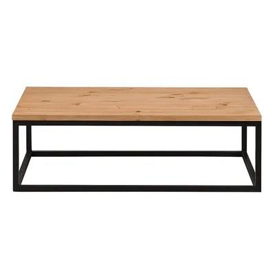 table basse pin la redoute