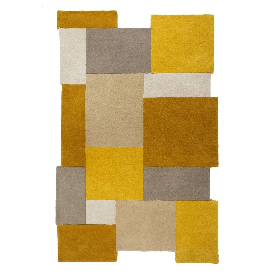 tapis salon jaune la redoute