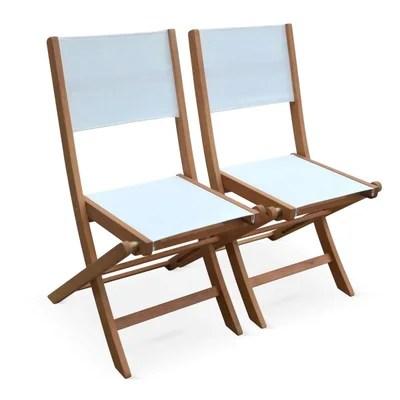 chaise pliante bois blanc la redoute