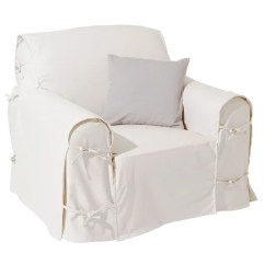 Sofa Chair Cover Silver Narnia Film Covers La Redoute Cotton Canvas Armchair Interieurs
