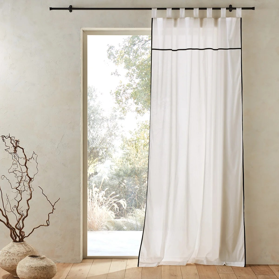rideaux coton blanc nouettes la redoute