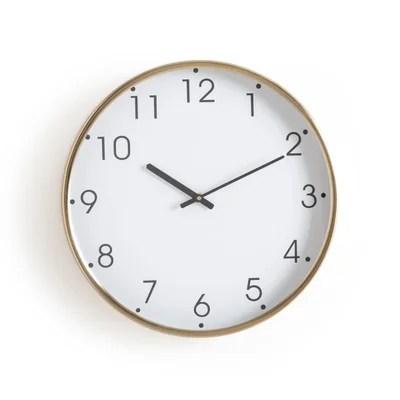 horloge metal finition laiton nattat horloge metal finition laiton nattat la redoute interieurs