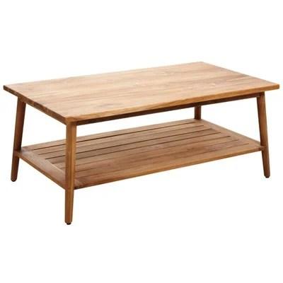 table basse teck la redoute