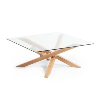 table basse en bois avec plateau en