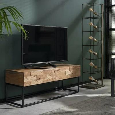 meuble tv bois massif contemporain la