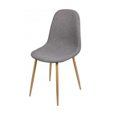 chaise tissu gris pied bois la redoute