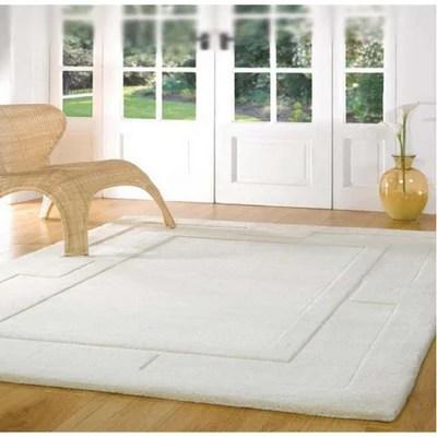 tapis laine blanc la redoute