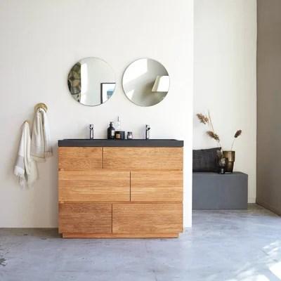 meuble salle de bain bois massif la
