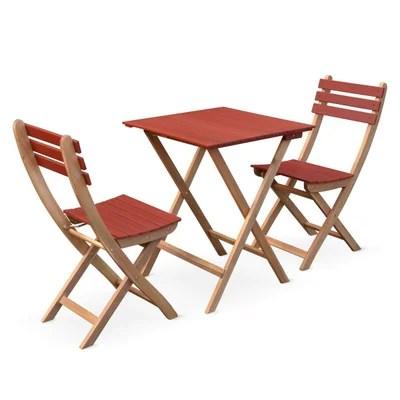 table pliante avec chaise la redoute