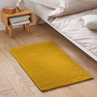 tapis jaune moutarde la redoute