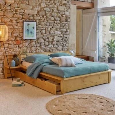 lit avec rangement 140 x 190 la redoute
