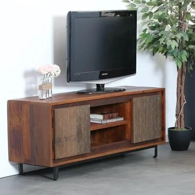 meuble tv bois brut la redoute