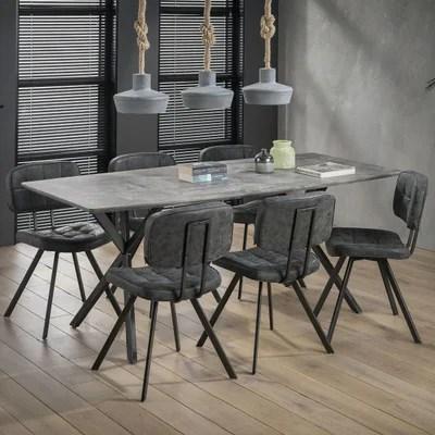 table gris beton la redoute
