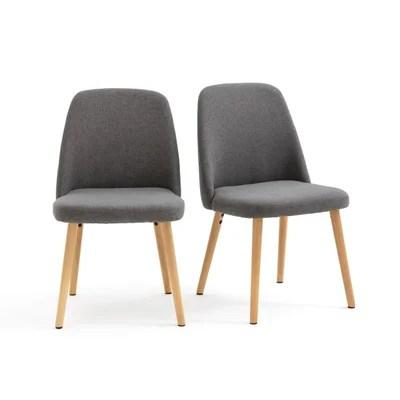 chaise scandinave tissu gris la redoute