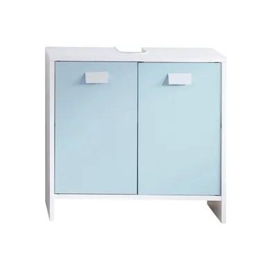 meuble de salle de bains couleur bleu