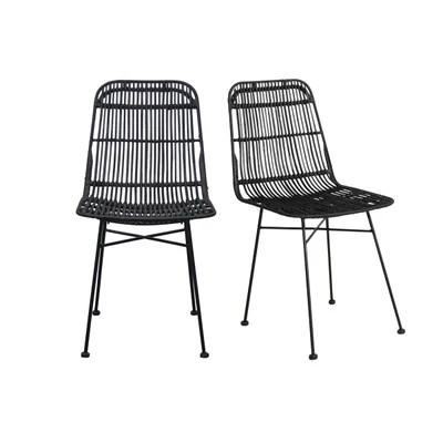 chaise noire la redoute