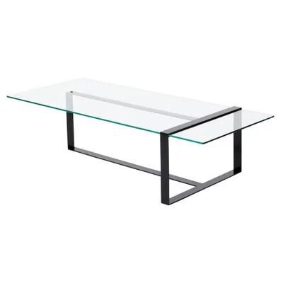 table basse verre fer forge