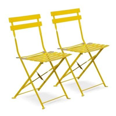chaise pliante jaune la redoute