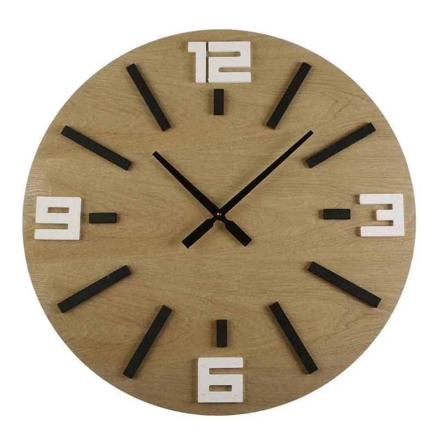 horloge murale bois scandinave versa