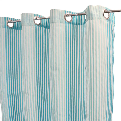 rideau bleu turquoise avec motif la