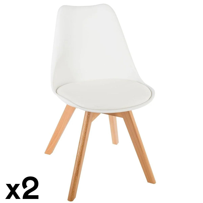chaise scandinave blanche la redoute