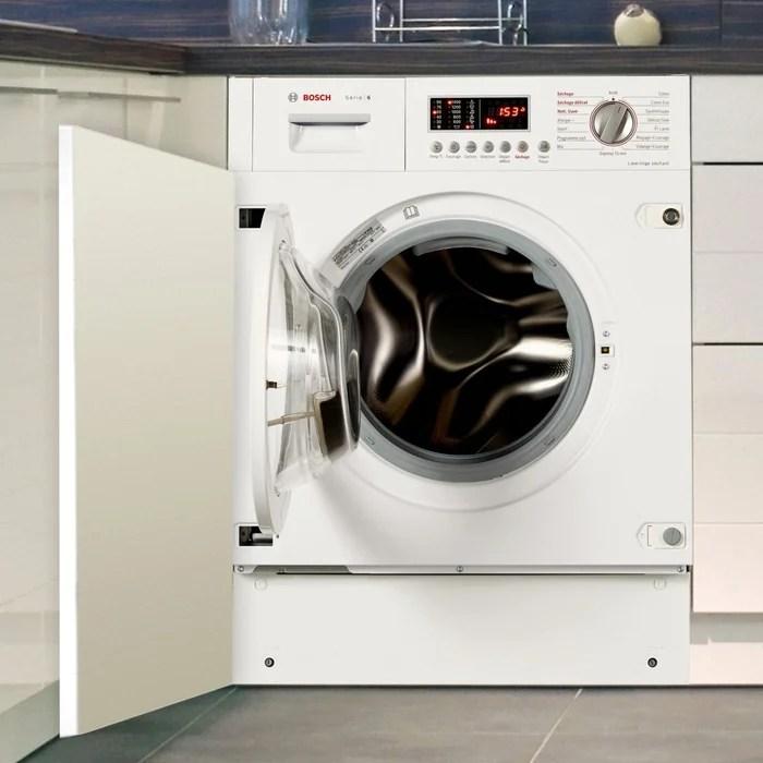 Lave Linge Sechant Hublot Encastrable Wkd28541ff Blanc Bosch La Redoute