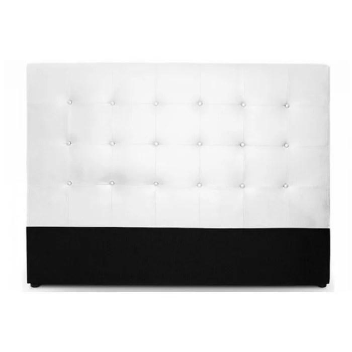 tete de lit capitonnee 140 cm coloris blanc florentin