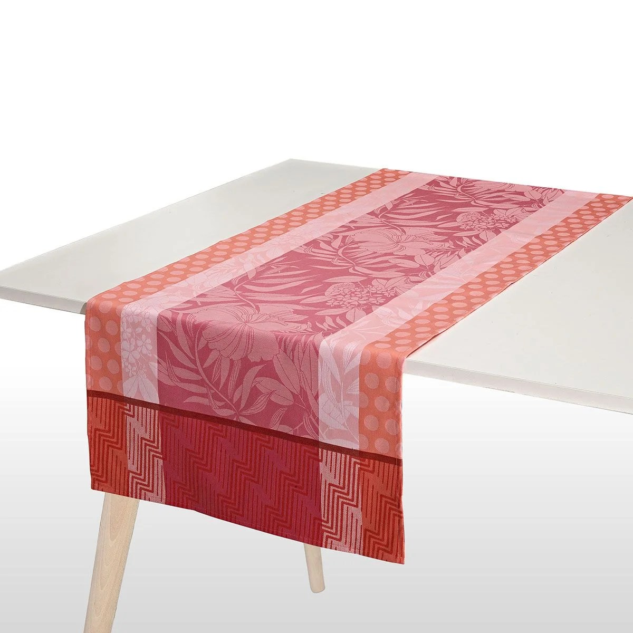 chemin de table enduit en coton nature urbaine made in france