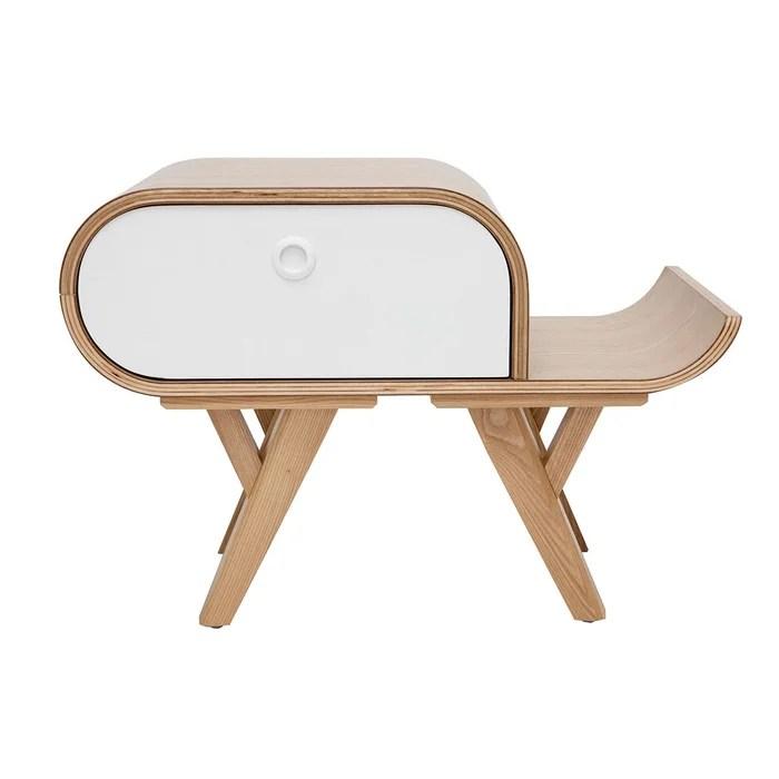 table de chevet scandinave droite kyoto