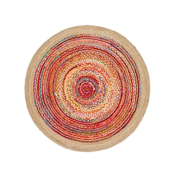 tapis jute et coton o150 cm jaco