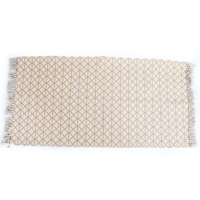 tapis ethnique a frange raasa
