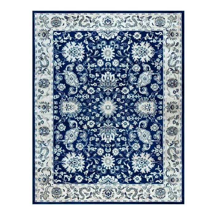 tapis classique bleu marine pour salon vallo