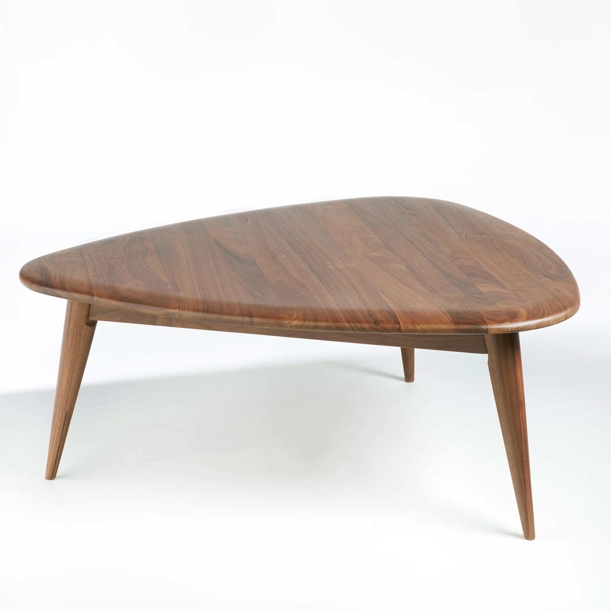 theoleine small retro style coffee table in solid walnut