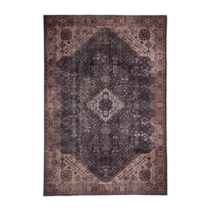 tapis berbere pour salon graphite ethnique scafati