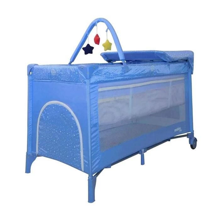 lit bebe parapluie avec arche et table a langer