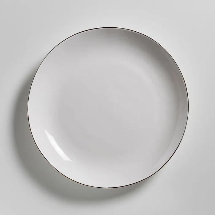 lot de 4 assiettes plates faience catalpa