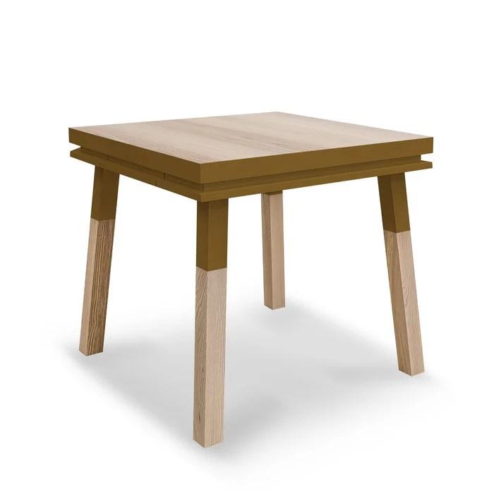 table repas carree bois massif 80cm