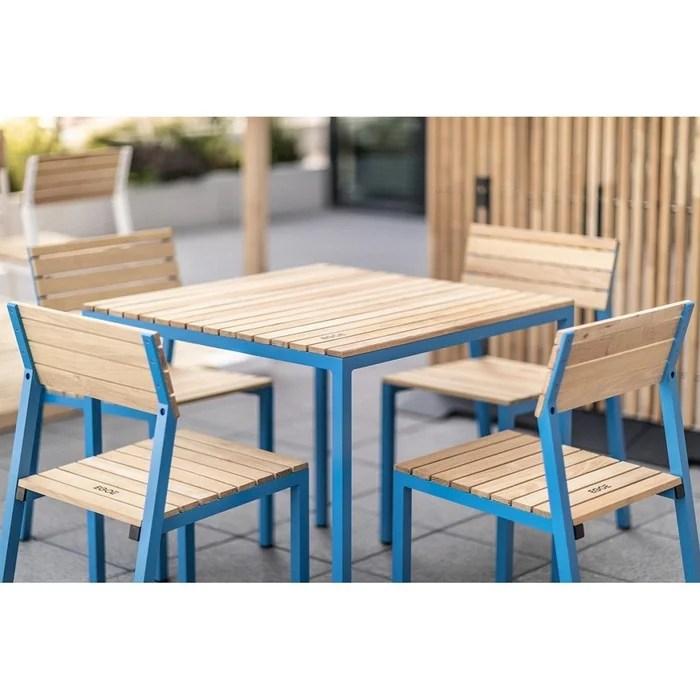 salon de jardin egoe table carree et 4 chaises cora