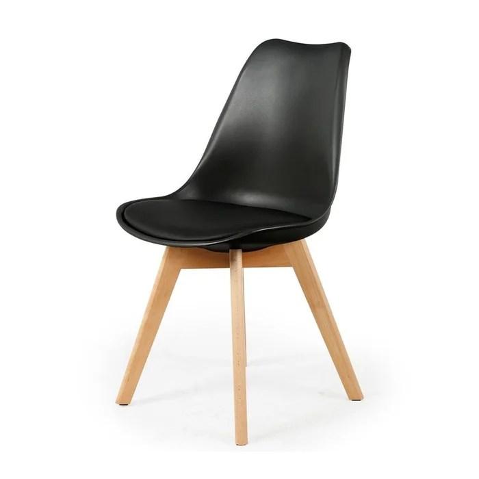 chaise scandinave coque avec coussin