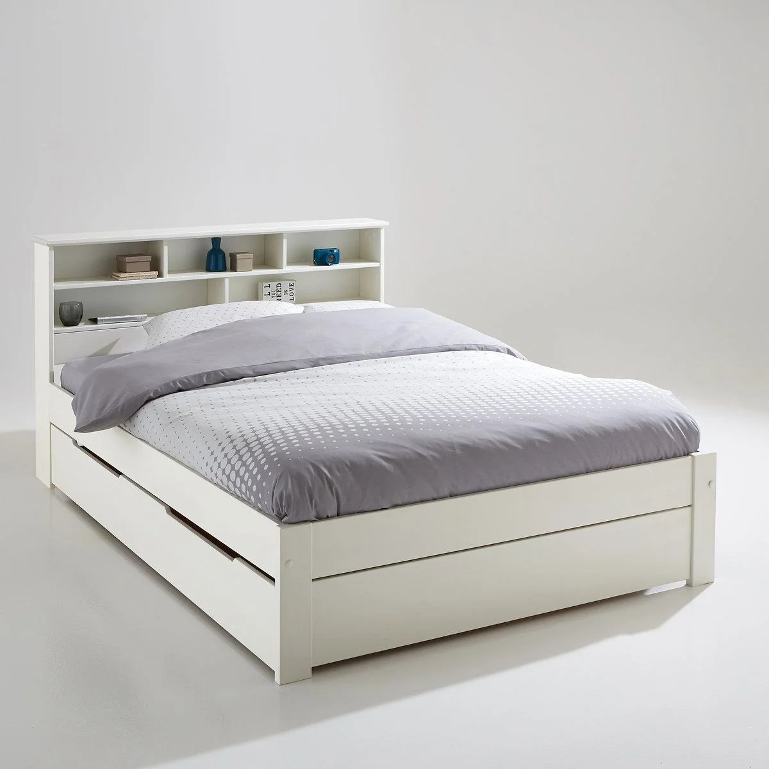 Ensemble lit tte de lit et sommier nikk blanc La