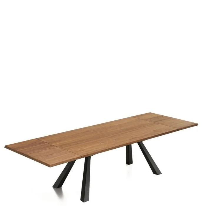 zeus table extensible en noyer de 2m a 3m