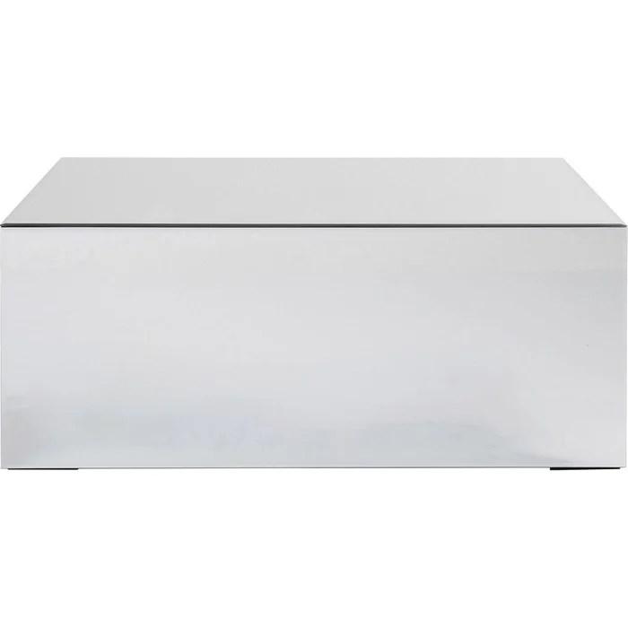 table basse luxury 90x50cm argent