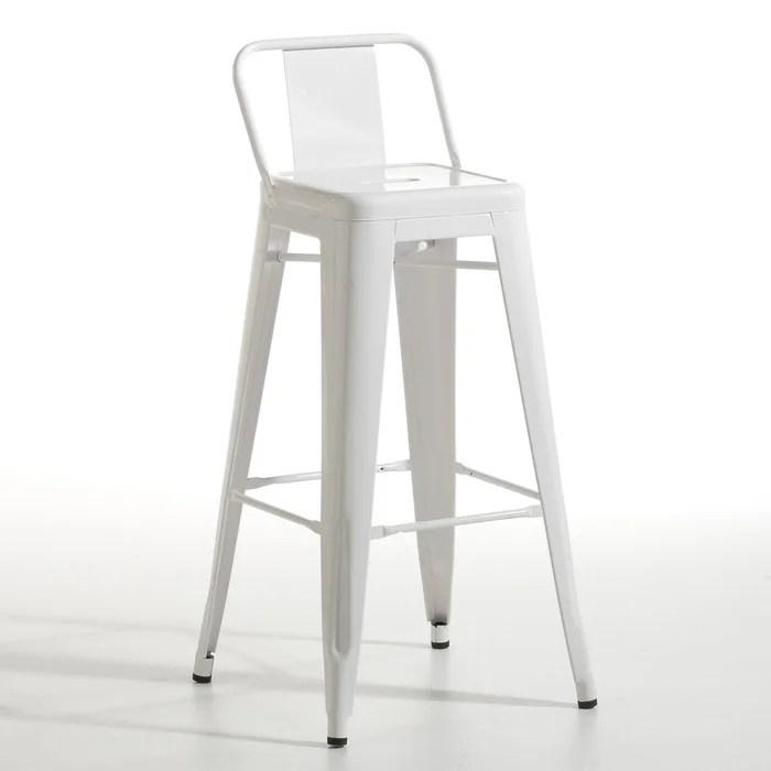 Chaise De Bar Tolix Acier Blanc Ampm  La Redoute