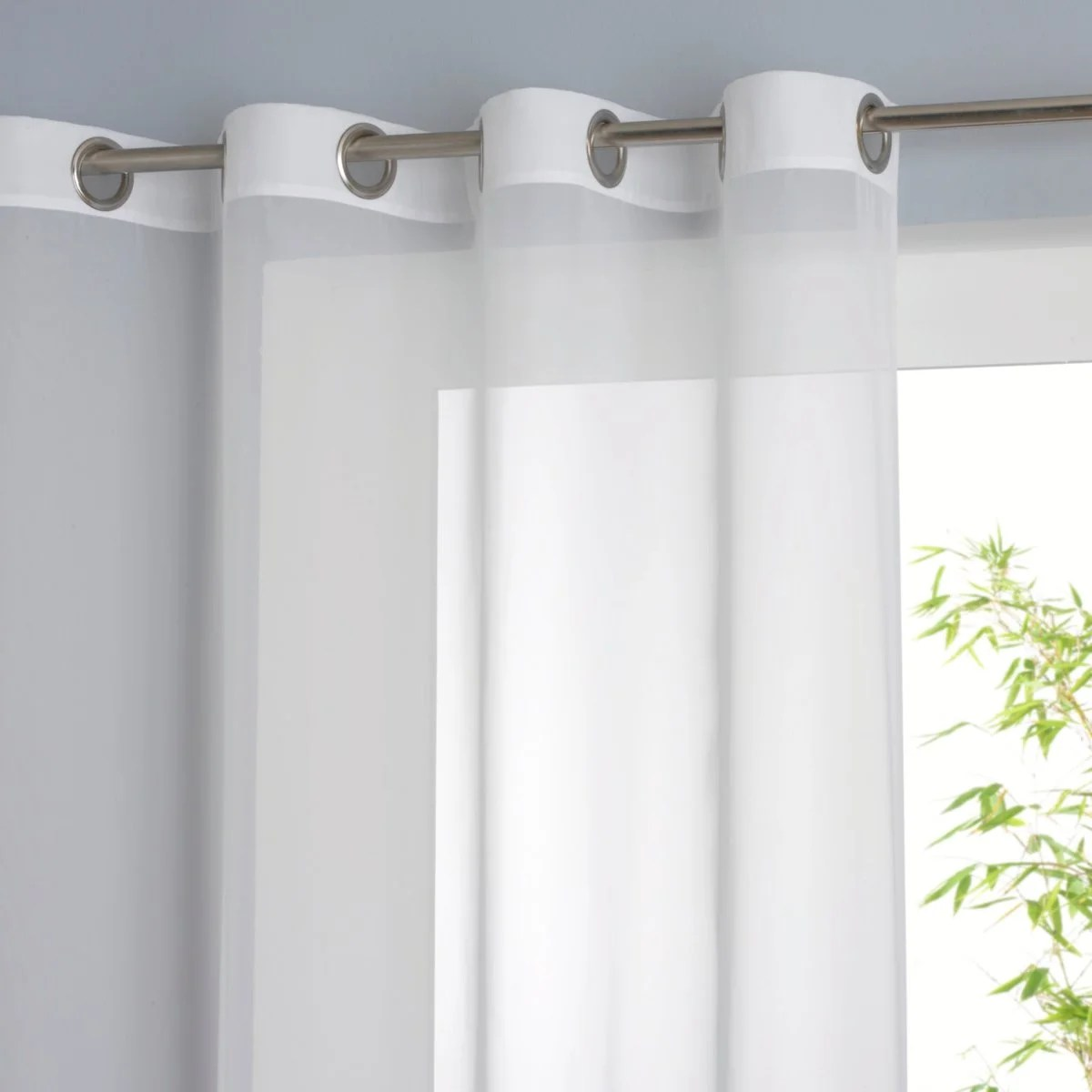 Limpo single voile panel with eyelet header La Redoute