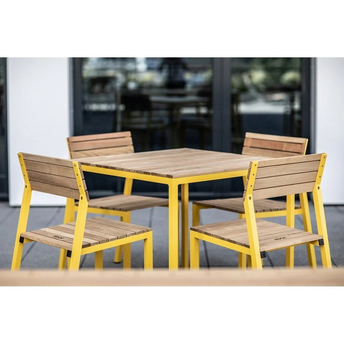 ensemble de jardin egoe table carree et 4 chaises cora