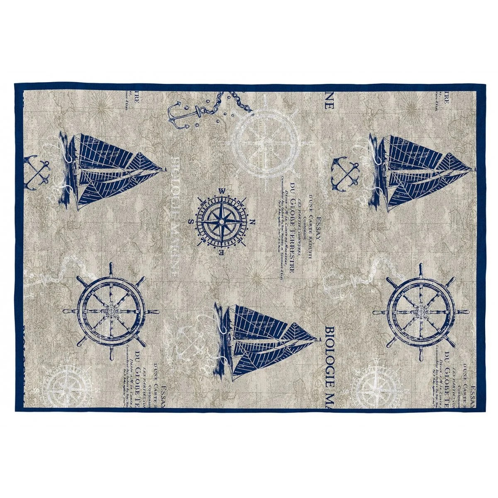 tapis bleu plat interieur marin noronha