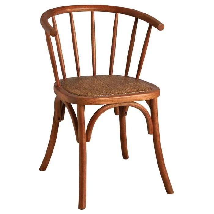chaise en hetre et rotin avec dossier rond 294306 8 aubry gaspard la redoute