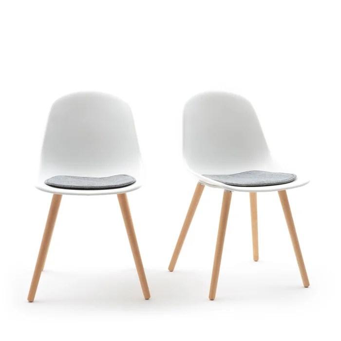 lot de 2 chaises assise coque wapong