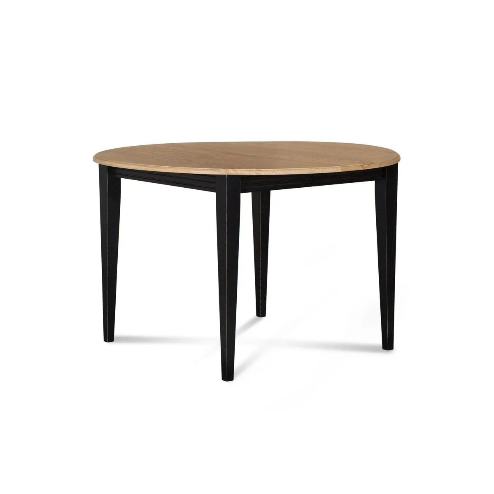 table ronde extensible bois a rallonges 105 cm pieds fuseau victoria