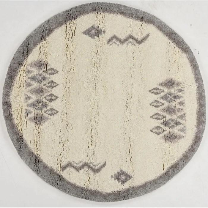 tapis berbere hadj noue a la main rond tapis salon